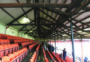 The timber supports of the Main Stand