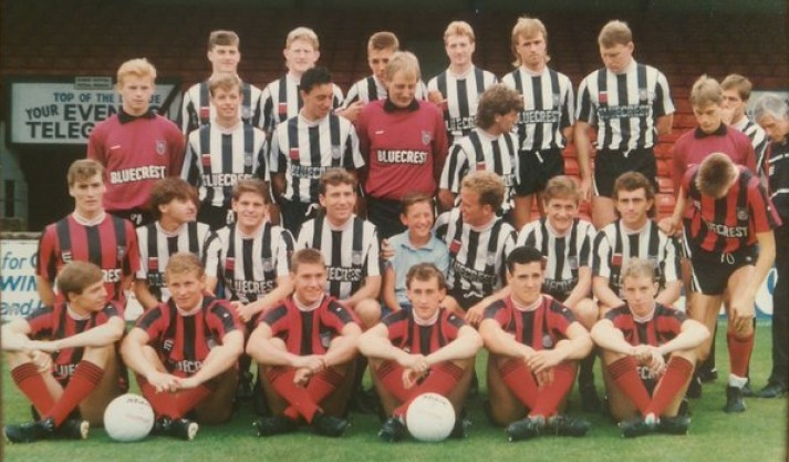 The 1987-88 Grimsby squad (with Peter Anderson)