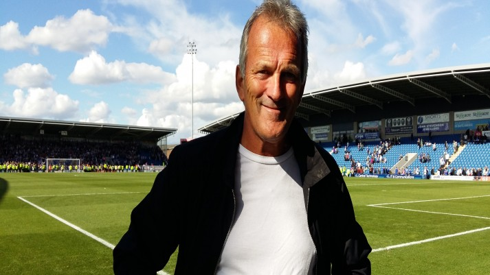 John England at Chesterfield v Grimsby